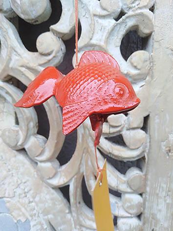 Lil'o bambous - Clochettes japonaises en fonte en poisson