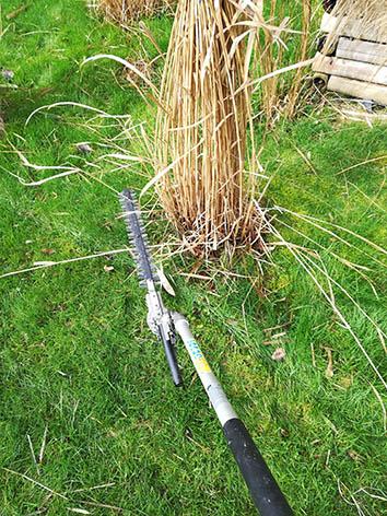 Lil'o bambous - Etape 3 - Placer la lame à une dizaine de centimètres du sol