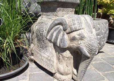 Lil'o bambous - Eléphant en pierre