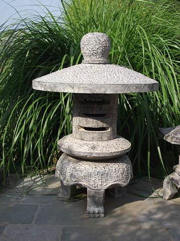 Lil'o bambous - Pagode japonaise ronde moderne en pierre