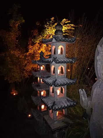Lil'o bambous - Pagodes chinoises en pierre de nuit