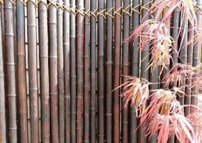 Lil'o bambous - Paravent en bambous fumé avec cordage