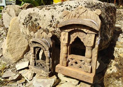Lil'o bambous - Petits temples indiens en bois
