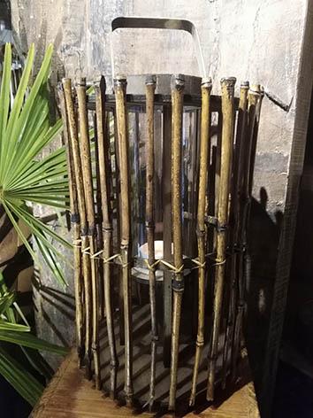 Lil'o bambous - Photophore en bambous 02