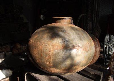 Lil'o bambous - Pot métalique rouille