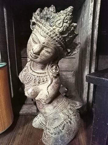 Lil'o bambous - Statuette déesse orientale