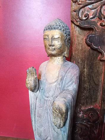 Lil'o bambous - Statuette de Bouddha patinée