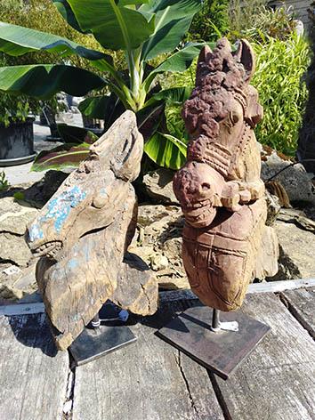 Lil'o bambous - Têtes de chevaux indiens en bois 2